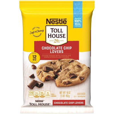 Nestle Tollhouse Ultimates Chocolate Chip Lovers Cookie Dough - 16oz/12ct