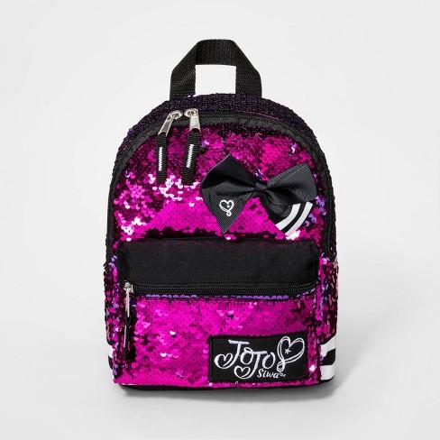 Girls' JoJo Siwa Reverse Sequin Backpack - Pink - image 1 of 3