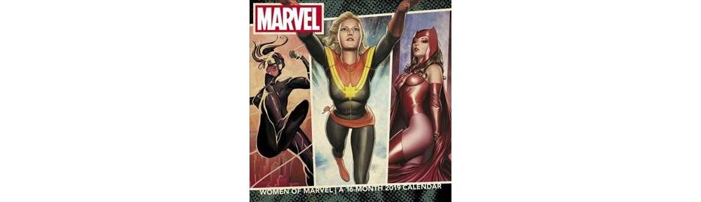 Women of Marvel 2019 Calendar - (Paperback)