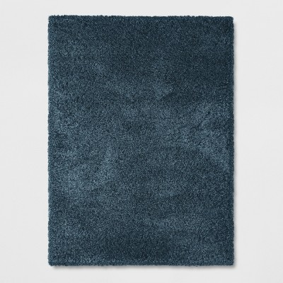 Indigo Solid Woven Area Rug 5'X7' - Project 62™