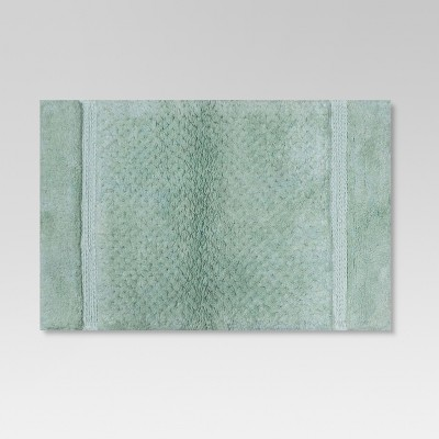 Tufted Textured Bath Rug Pond Green - Threshold™