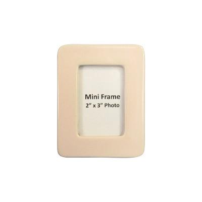 2 X3  Stoneware Matte Finish Mini Frame Soft Pink - Project 62™