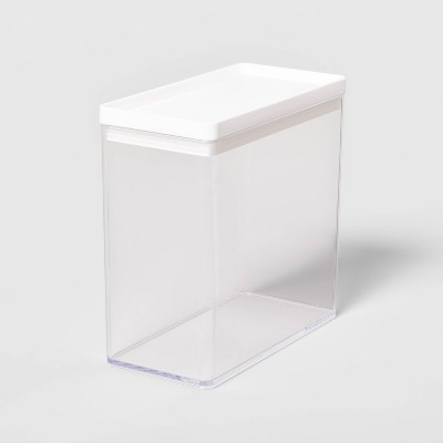 """8""""W X 4""""D X 8""""H Plastic Food Storage Container Clear - Made By Design™"""