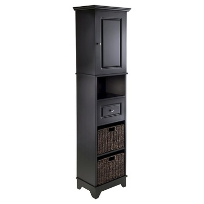"Display Cabinet Winsome Black 70.87"" - Winsome"