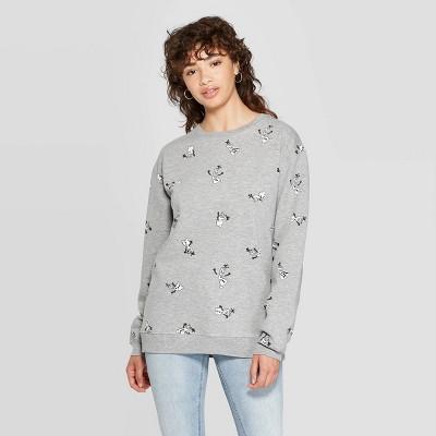 Women's Olaf Sweatshirt (Juniors') Heather Gray by Frozen