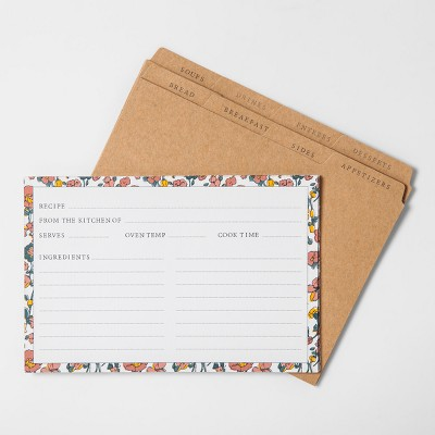 Floral Recipe Card 20ct - Hearth & Hand™ with Magnolia