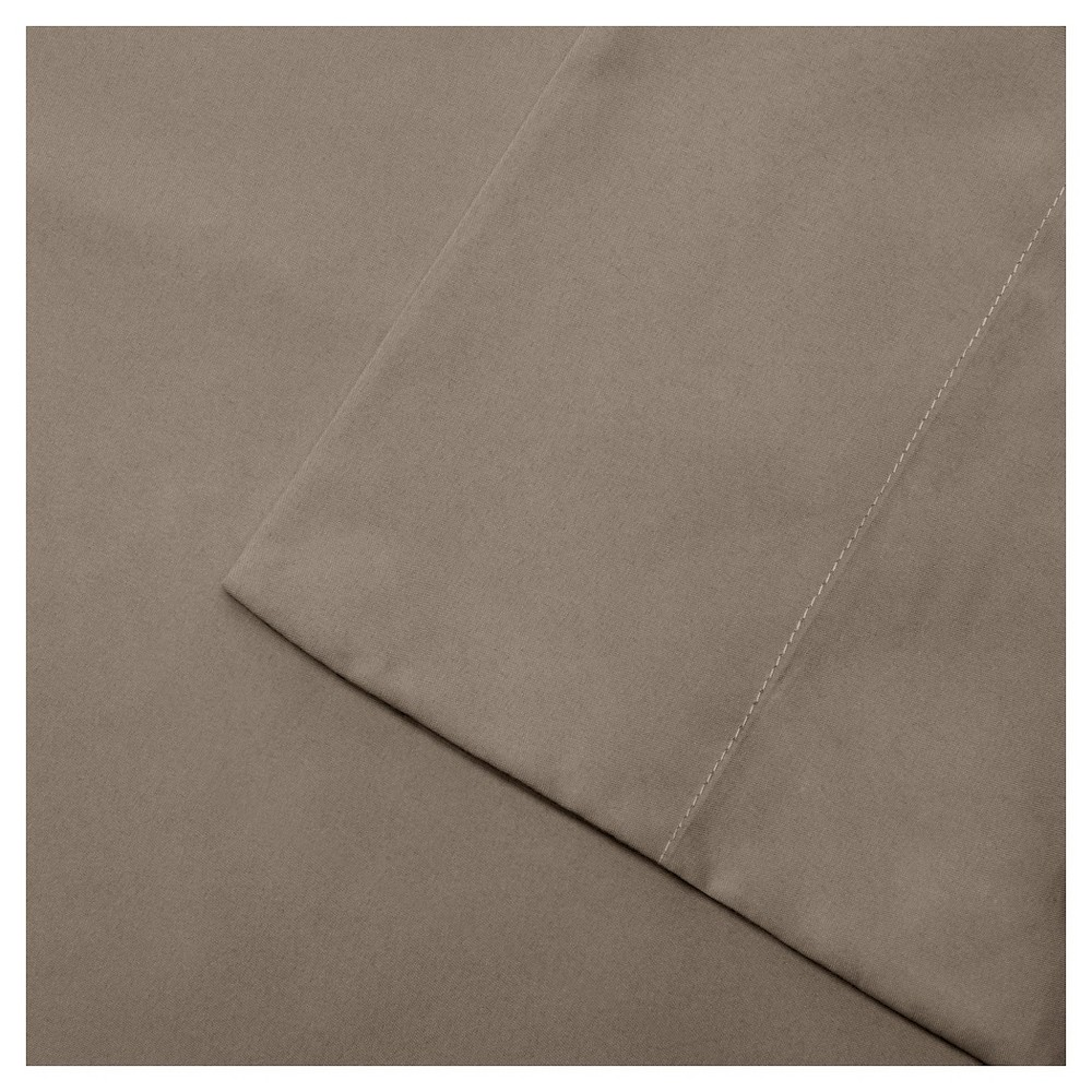 California King 3M Microcell All Season Moisture Wicking Lightweight Sheet Set Brown