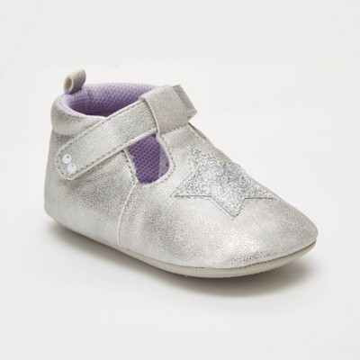 Baby Girls' Surprize by Stride Rite Heidi Mini Shoes - Silver 12-18M