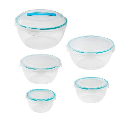 Snapware Airtight Plastic Storage Bowl Set - 10pc