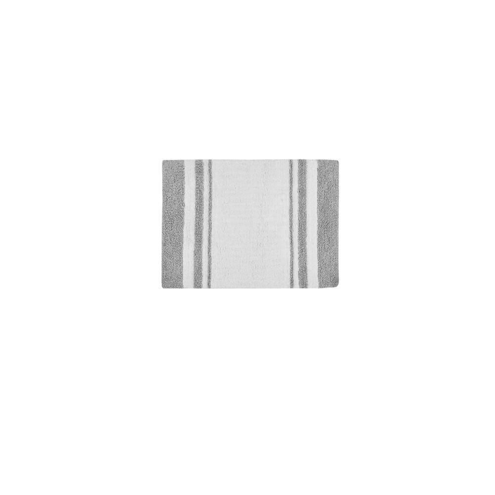 20 34 X30 34 Spa Cotton Reversible Bath Rug Gray