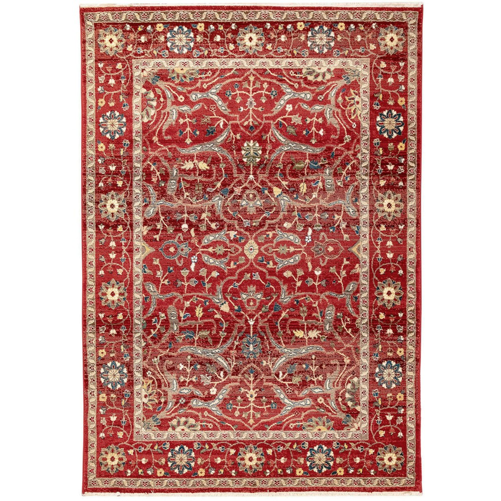5'X8' Jacquard Woven Area Rug Red - Liora Manne