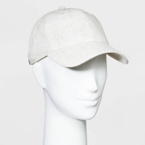 Women's Baseball Natural Linen - Universal Thread™ White One Size - image 1 of 2