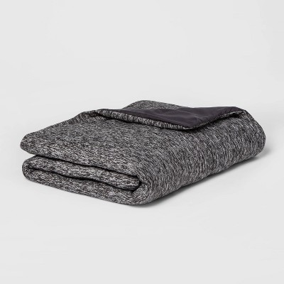 "50"" x 70"" 12lbs Weighted Throw Blanket with Removable Cover Heather Gray - Room Essentials™"