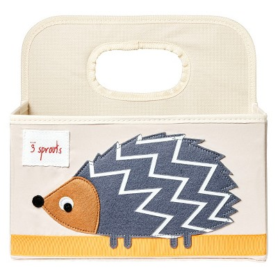 3 Sprouts Diaper Caddy Hedgehog - Brown