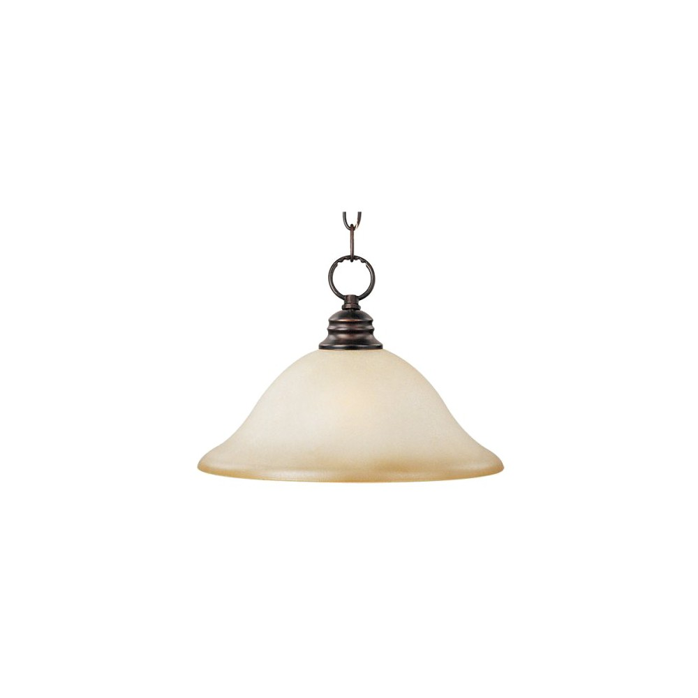 Image of Casual Lighting 1-Bulb Pendant with Wilshire Glass - Oil-Rubbed Bronze, Brown Shimmer