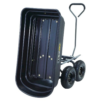 Nice Gorilla Carts Poly Garden Dump Cart With Steel Frame And Pneumatic Tires,  600 Pound Capacity : Target