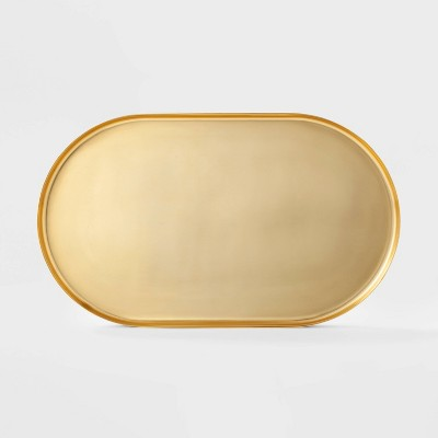 24  x 14.1  Decorative Brass Tray Gold - Project 62™