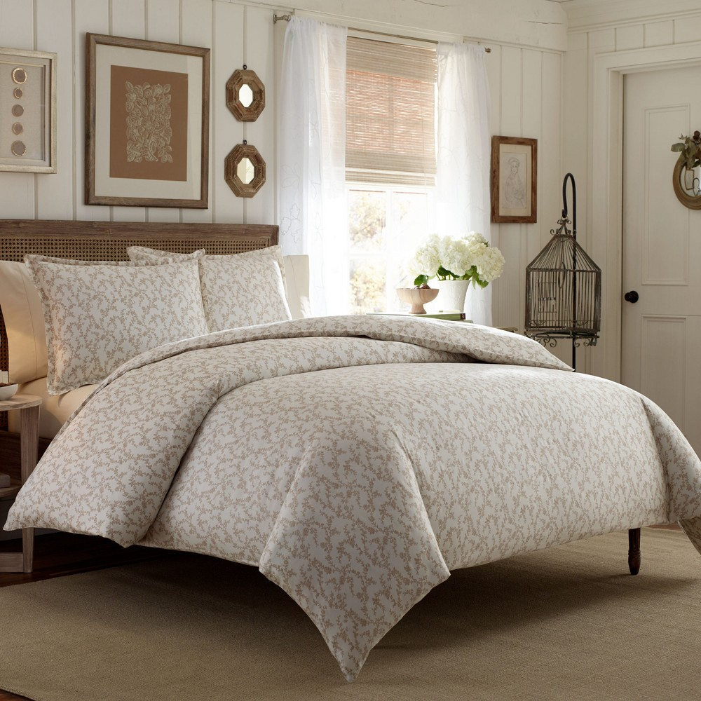 Twin Brown Victoria Comforter Set - Laura Ashley