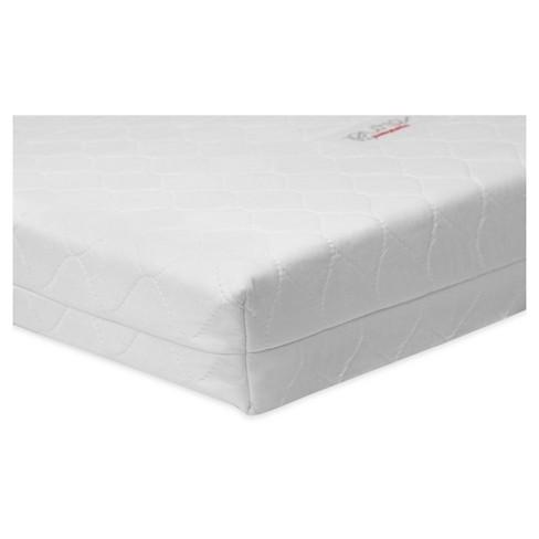 Babyletto Pure Core Non Toxic Mini Crib Mattress With Hybrid Waterproof Cover