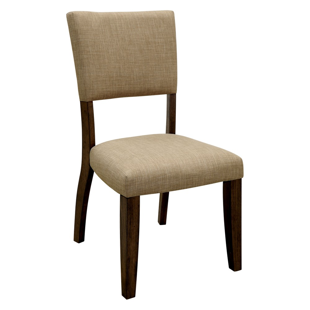 Iohomes Kerney Transitional Fabric Chair Rustic Oak - Homes: Inside + Out