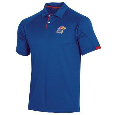 NCAA Kansas Jayhawks Men's Short Sleeved Polo Shirt