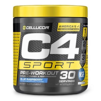 Cellucor C4 Sport Pre-Workout Powder - Blue Raspberry - 9.5oz