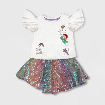 Girls' Disney Ariel Activewear Skirt Set - Disney Store