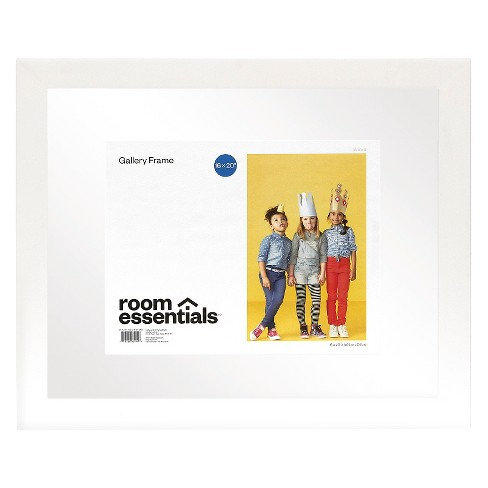 Float Frame - White - 16x20 Glass for 11x14 Photo - Room Essentials ...