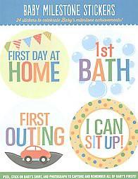 Baby Milestone Stickers : 24 Stickers to Celebrate Baby's Milestone Achievements! (Paperback)