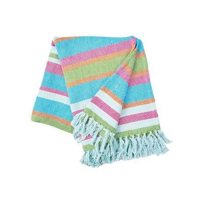 "C&F Home Key Lime Stripe Woven 50"" x 60"" Throw Blanket"