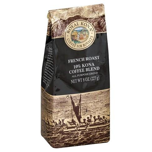 Royal Kona French Roast Ground Dark Roast Coffee - 8oz - image 1 of 1