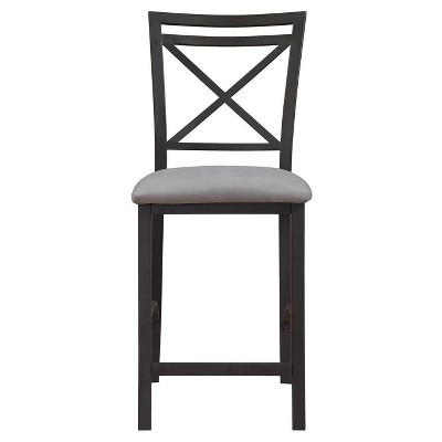 Crossback Counter Height Dining Chair - Black-Gray - Dorel Living