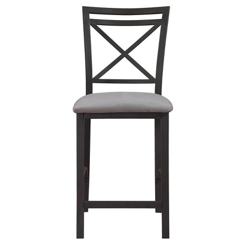 Crossback Counter Height Dining Chair - Black-Gray - Dorel Living - image 1 of 4