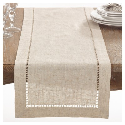 Light Brown Toscana Table Runner (16 x72 )- Saro Lifestyle®