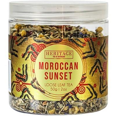 Heritage Tea Moroccan Sunset Wellness Loose Leaf Tea - 2oz