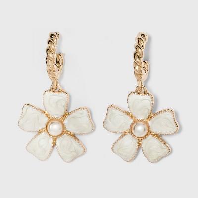 SUGARFIX by BaubleBar Flower Drop Earrings
