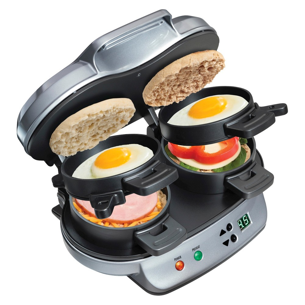 Hamilton Beach Double Breakfast Sandwich Maker- 25490 15718366
