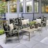 Ashland Jacobean Deep Seat Outdoor Cushion Set Black/White - Arden Selections - image 2 of 2