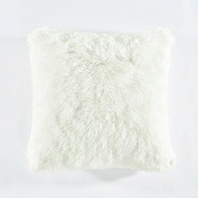 """20""""x20"""" Oversize Emma Square Throw Pillow White - Lush Décor"""