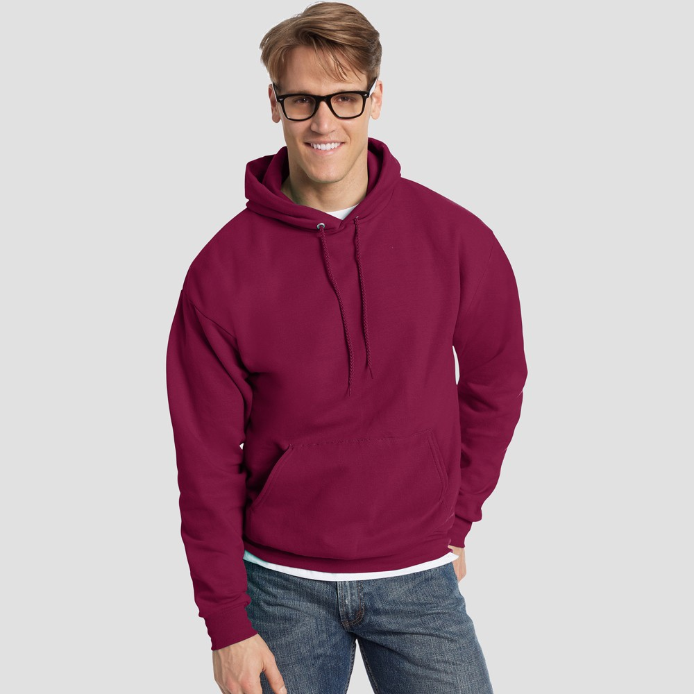 Hanes Men's Big & Tall EcoSmart Fleece Crew Neck Sweatshirt - Cardinal (Red) 3XL