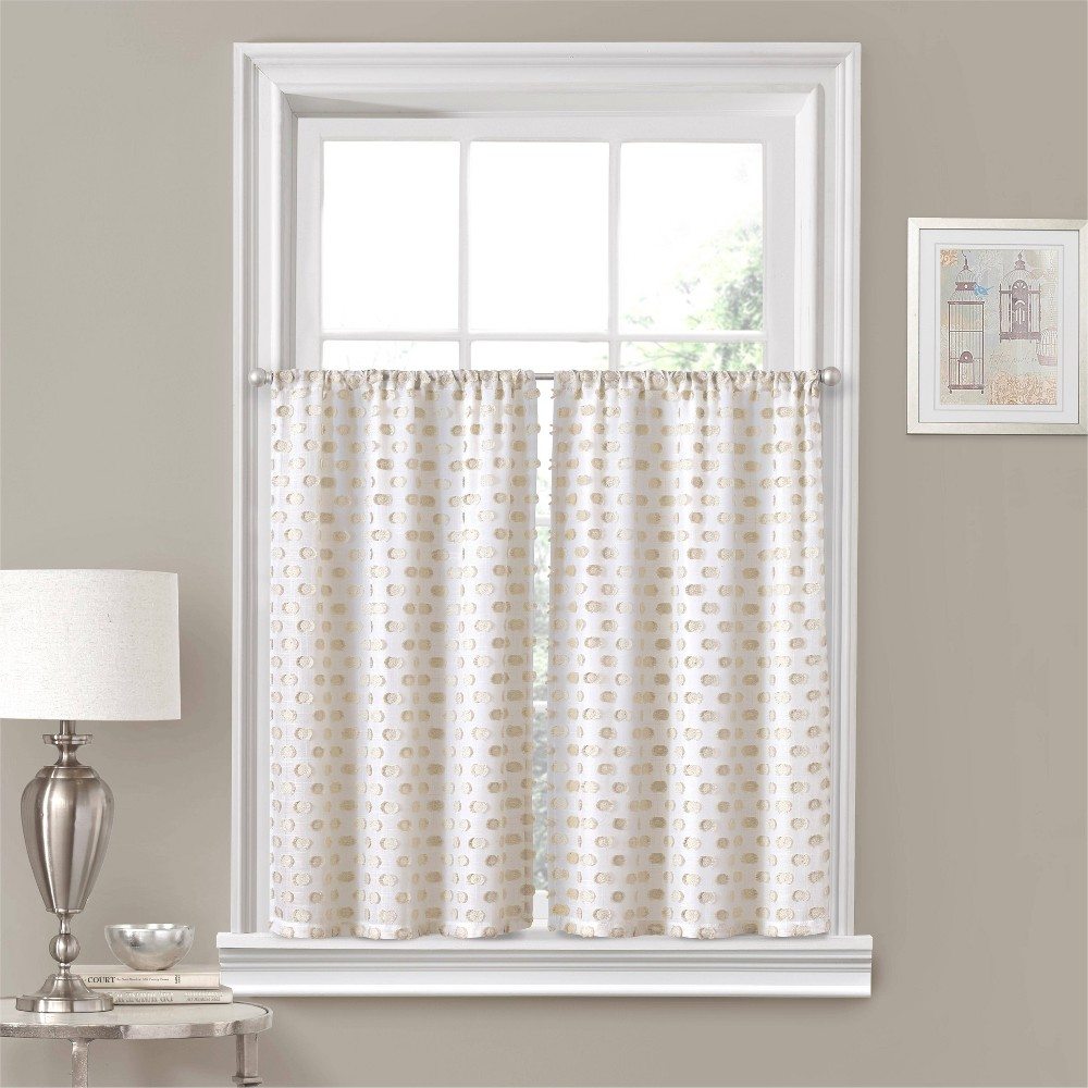"Image of ""24""""x52"""" Modo Rod Pocket Curtain Tier Set Linen - Eclipse"""