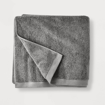 Organic Bath Towel Dark Gray - Casaluna™