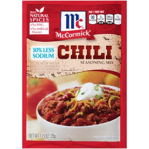 Mccormick Less Sodium Chili Mix 1 25oz Target