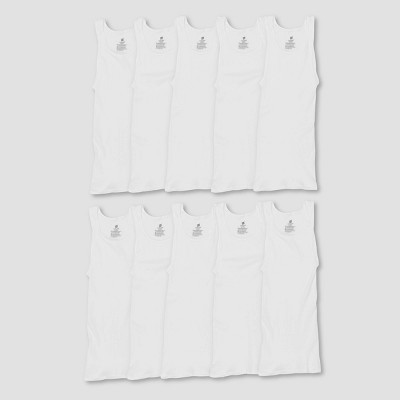 Hanes Men's Comfort Soft Super Value 10pk Tank Top - White