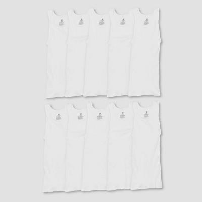 Hanes Men's Comfort Soft Super Value 10pk Tank Top - White