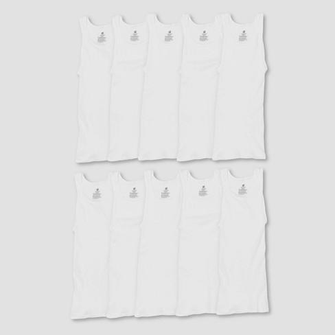 Hanes Men's Comfort Soft Super Value 10pk Tank Top - White - image 1 of 2