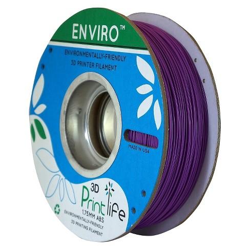 3D Printlife Enviro Eco-Friendly 1.75mm Premium ABS Filament - Purple (8130554) - image 1 of 3