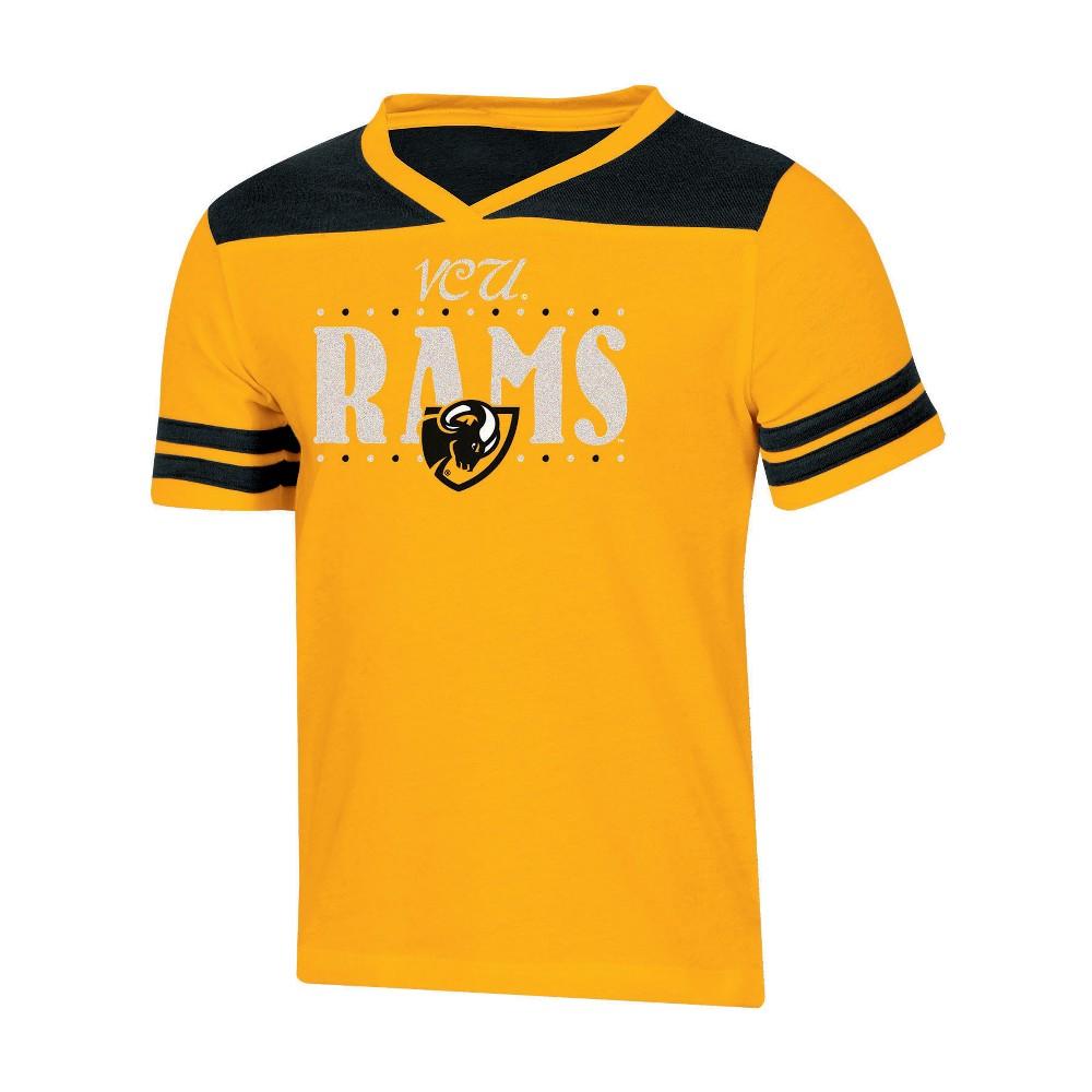 NCAA Girls' Heather Fashion T-Shirt Vcu Rams - M, Multicolored