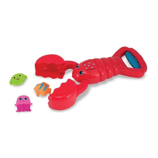 Melissa & Doug Sunny Patch Louie Lobster Claw Catcher - Grab-and-Squeeze Pool Toy, Adult Unisex image number null