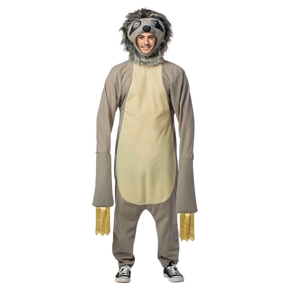 Adult Sloth Costume, Adult Unisex, Multi-Colored